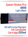 Light Black Epson Stylus Pro 4800 Printer Compatible Ink Cartridge 220ml
