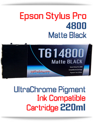 Matte Black Epson Stylus Pro 4800 Printer Compatible Ink Cartridge 220ml
