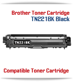 TN221BK Black Brother Compatible High Yield Toner Cartridge