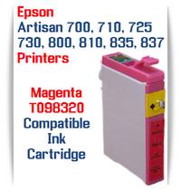 Epson Artisan Printer T098320 Magenta Compatible Ink Cartridge