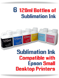 6 120ml Bottles Epson Desktop compatible Dye Sublimation Ink