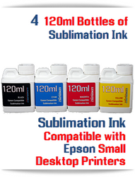 4 Color Package 120ml Bottle Epson Desktop compatible Dye Sublimation Ink