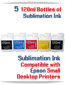 5 Color Package 120ml Bottle Epson Expression Premium XP Desktop compatible Dye Sublimation Ink