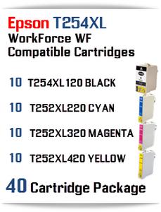 40 Ink Cartridge Package T254XL-T252XL Epson WorkForce WF printer compatible ink cartridges