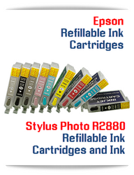 Refillable Ink Cartridges Epson Stylus Photo R2880 Printer