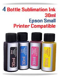 4 Color Package 30ml Sublimation Ink Epson Desktop printers compatible