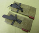 Waxed canvas carrying bag--folded and tied into a neat bundle. Packs small and offers big protection to your Bob's Saw