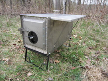 "ULTRALIGHT II titauium camp stove 11"" x 11"" x 22"" fire box"