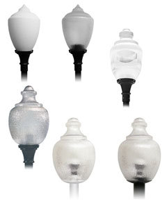 Led post top light fixtures commercial grade lighting led post top acorn mozeypictures Choice Image
