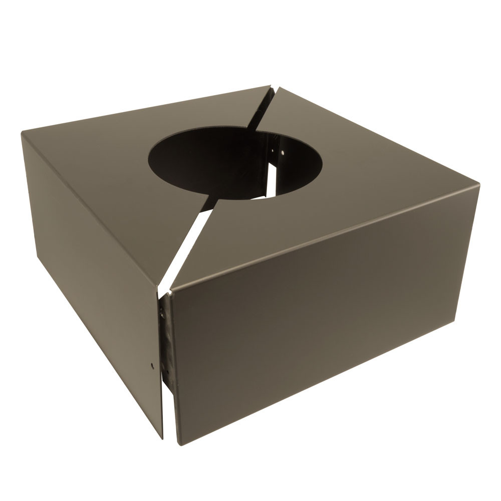 Light Pole Plus: 10.25in X 10.25in X 6in Square Aluminum Base Cover For 5in