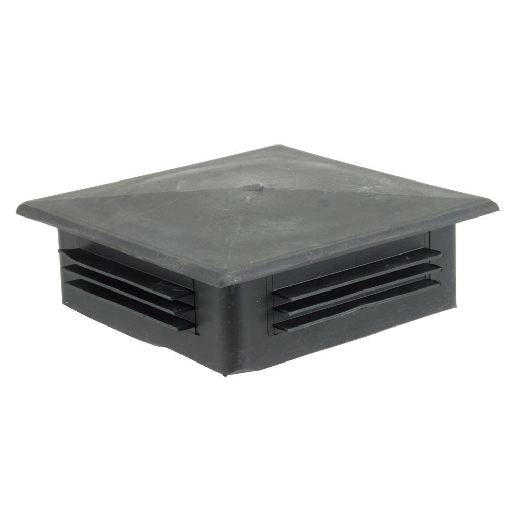 Light Pole Plus: Round Injection Molded Plastic Top Cap For 4in OD Square