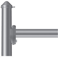 Single Fixture Mount, 12in Long, Steel Spoke Bracket, Side Mount