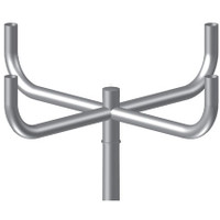 4 @ 90 deg. Fixture Mount, Steel Bullhorn Bracket, Pole Top Mount