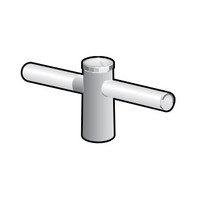2 @ 180 deg. Fixture Mount, 18in Long, Aluminum Spoke Bracket, Pole Top Mount