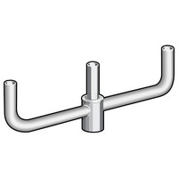 3 @ 180 deg. Fixture Mount, Aluminum Bullhorn Bracket, Pole Top Mount