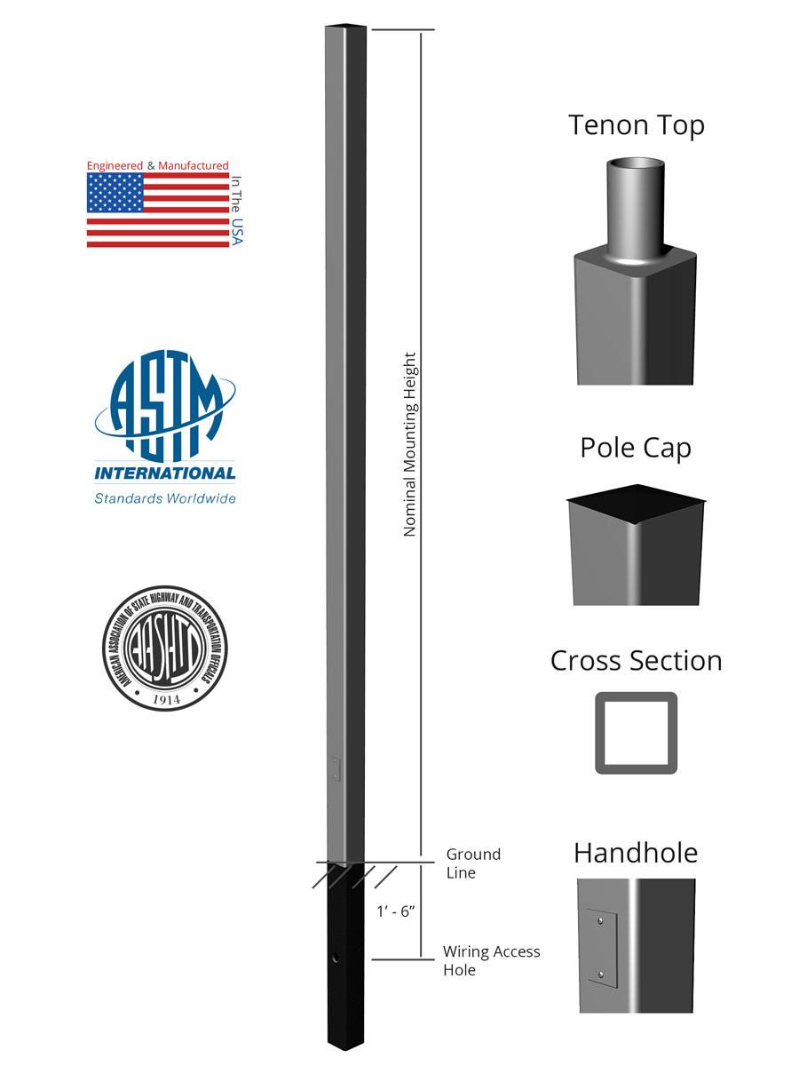 Thick pole