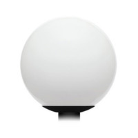 "9w LED, 12"" Acrylic Globe Post Top Lamp, 800 Lumens, Basic Series, QuickShip"