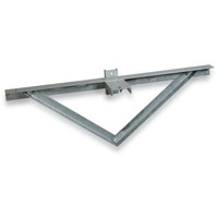 3 @ 180 deg. Fixture Mount, Steel Cross Arm w/ Standoff Bracket