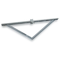 5 @ 180 deg. Fixture Mount, Steel Cross Arm w/ Standoff Bracket