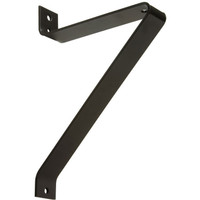 "Single Fixture Mount, 12.5"" Long, Steel Wall Mount Side Angle Bracket"