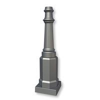 Decorative Abingdon Style Light Pole - Base Detail