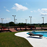 Backyard LED Sports Court Lighting Project - Giddings, Texas.