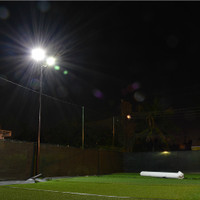 "#2160: Miami Soccer Station | 200w LED 16"" Shoebox Lighting Install"