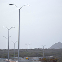 #3465: Fiberglass Roadway Light Poles