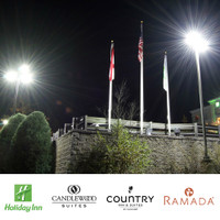 Holiday Inn, Candlewood Suits, Country Inn & Suits, and Ramada hotels upgrade to LED lighting packages.