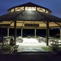 LED lighting in the pavilion