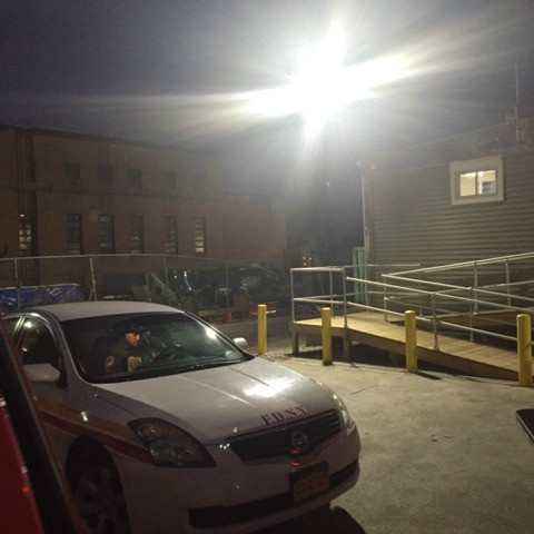 6549 fdny parking lot lighting upgrade light poles 120w led