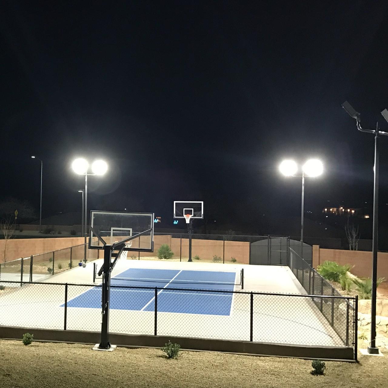 Backyard Rink Lighting: #0690: Incredible Backyard Sports Court