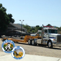 The Santa Barbra Fire Department with new LED Shoebox fixtures, aluminum anchor base light poles, and steel brackets.