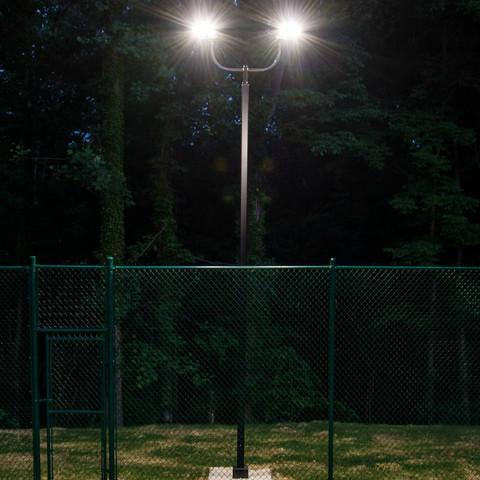 0865 Incredible Backyard Basketball Court In Moseley Va