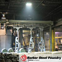 Steel foundry illuminated by LED Helios lighting