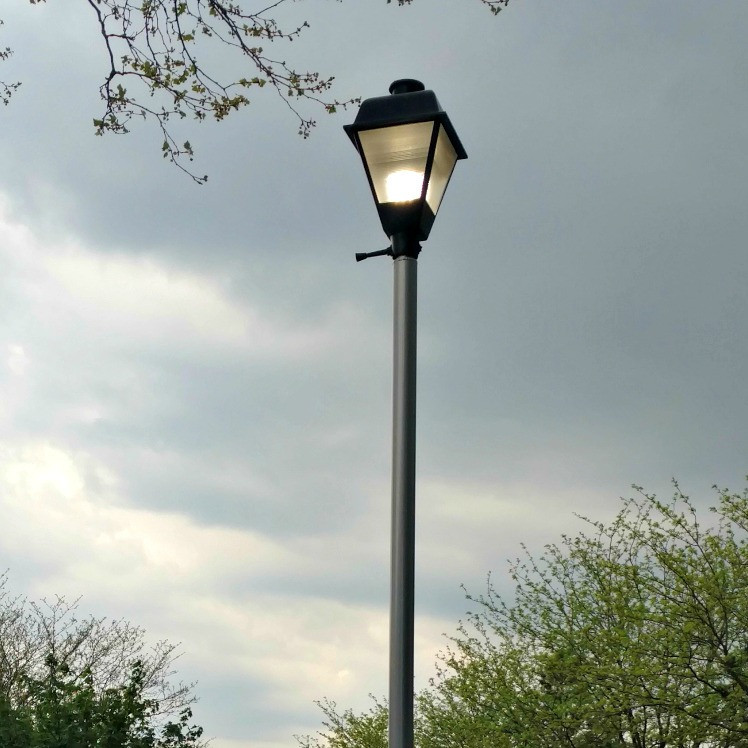 Parking Lot Lighting Watts Per Square Foot: #1534: Replacement 15' Round Straight Aluminum Light Pole