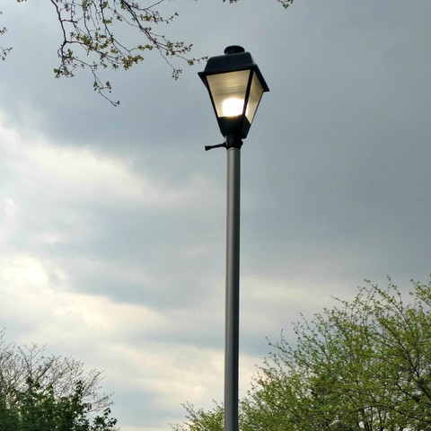 1534 Replacement 15 Round Straight Aluminum Light Pole
