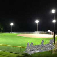 Munhall Softball Facility Complex with the new 350w LED Sports light fixtures installed