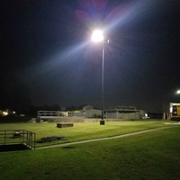 40w LED Shoebox light fixtures installed at the wastewater treatment plant