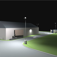 Parking lot LED lighting photometric layout