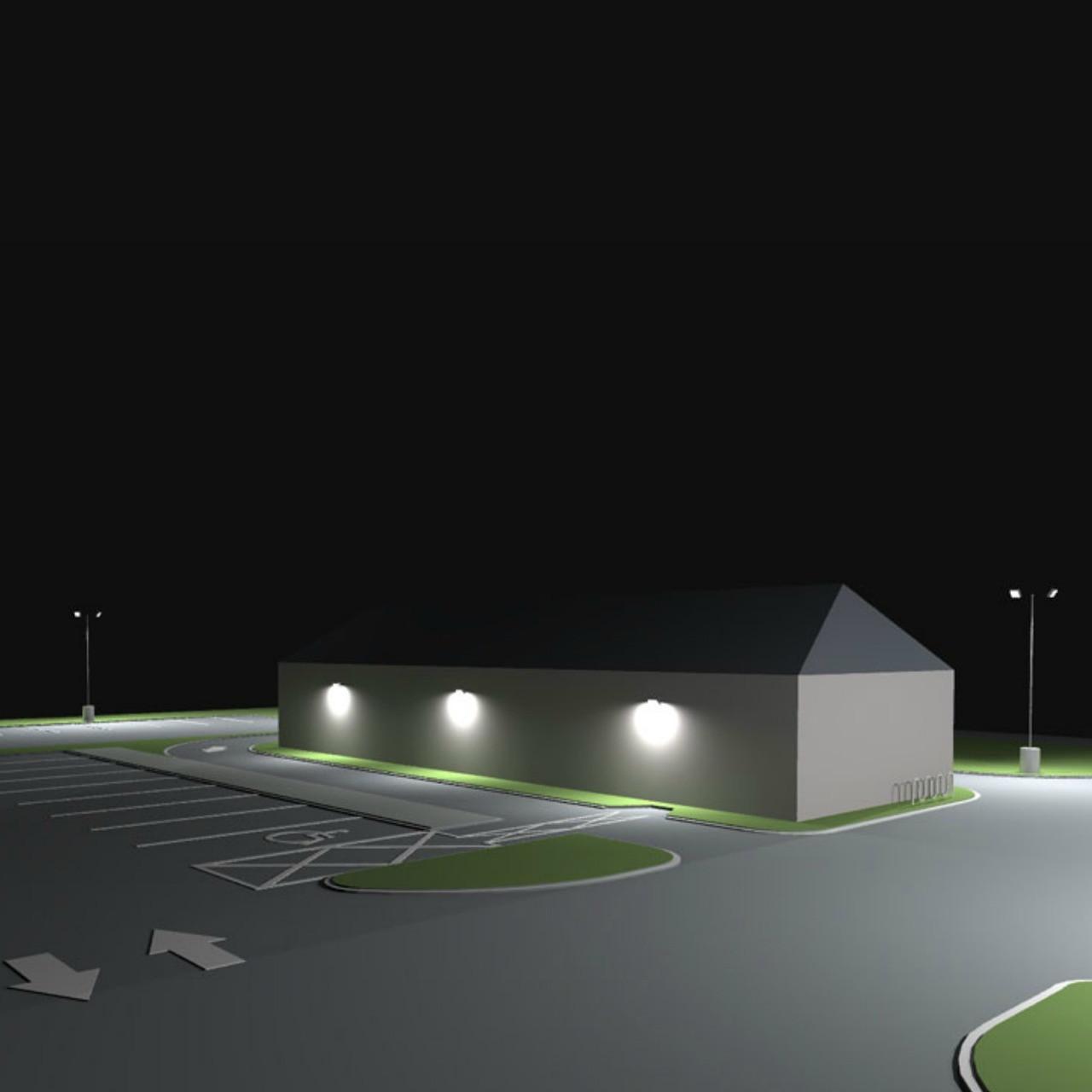 Spacing Of Parking Lot Lights: #1161: Restaurant Parking Lot Photometric Lighting Layout