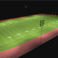 LED lighting for the high school football field photometric layout