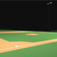 LED lighting and light poles for the little league baseball field photometric layout