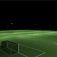 LED lighting for the soccer field complex photometric layout