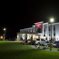 Hampton Inn Hotel with LED Lighting and Light Poles from Light Poles Plus.