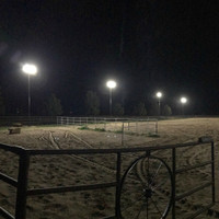 LED Shoebox fixtures installed at the Nashwa Farms Equestrian Arena