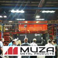 LED Ecobay light fixtures installed at MUZA Metals