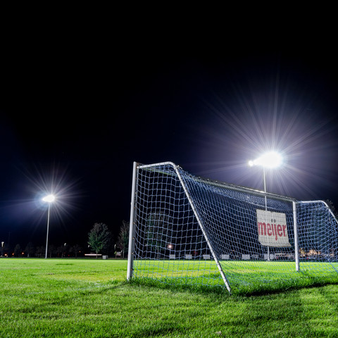 N.E.W. United Soccer Club new LED lighting installed on the soccer field