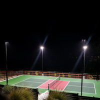 160w LED Shoebox light fixtures installed for a residential pickle-ball court in Atascadero, CA.