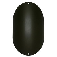 6in x 9in Oval Rounded Light Pole Hand Hole Cover with Screw Holes